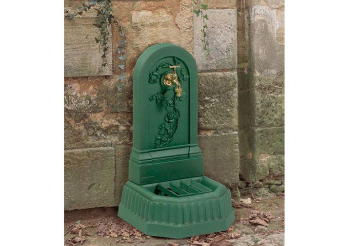 Fontaine de Jardin Murale en Fonte Roselière + Robinet