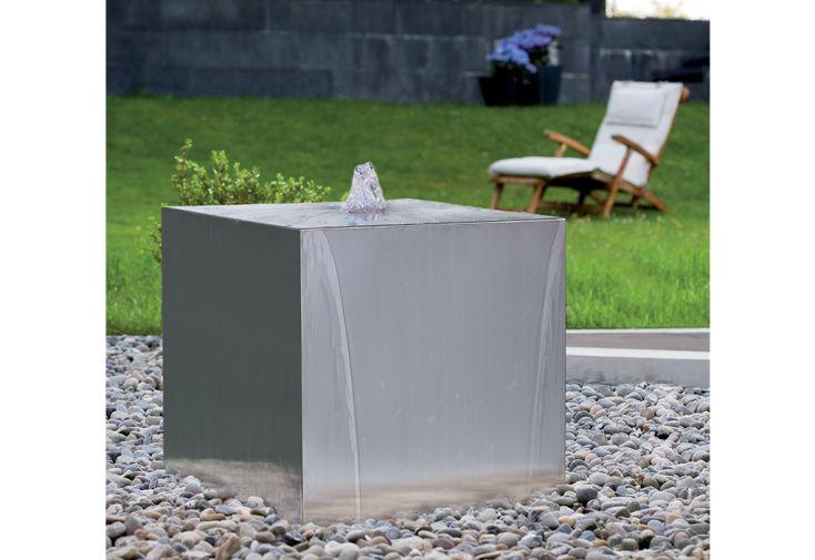 Fontaine de Jardin en Inox Seliger Cube 50