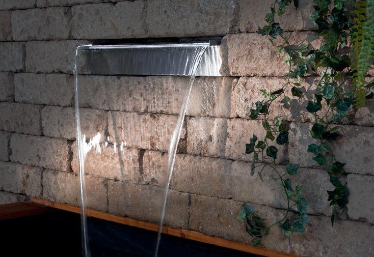 Fontaine de Jardin Lame d'Eau en Inox Seliger Aquafall 600