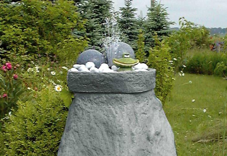 Kit cuve recuperation d'eau vasque fontaine Menhir gris