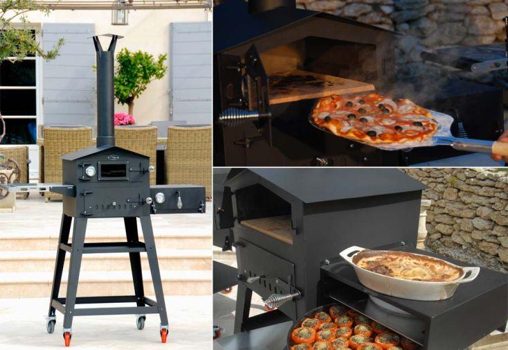 Four pizza multifonctions acier vulcano 2 l 39 art du jardin - Four a pizza de jardin ...