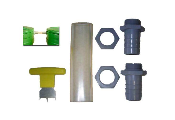 Kit de connection pour cuve d'eau de pluie  incl. mèche 1 1/4