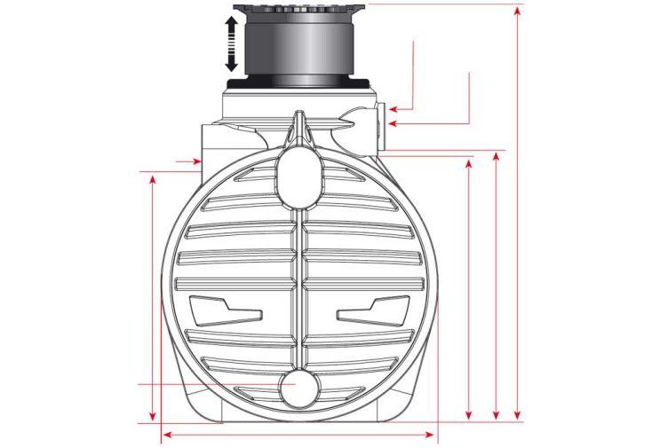 Cuve recuperateur eau enterree 3400 L