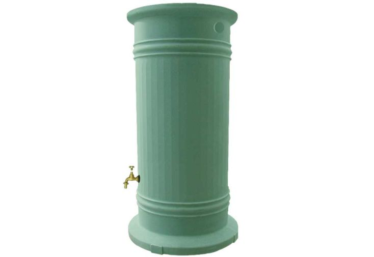 Cuve recuperation d'eau pluie Colonne Romaine 1200 L vert