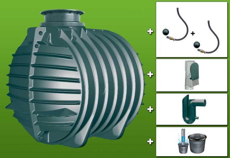 Kit cuve recuperateur eau Retention 6000 L