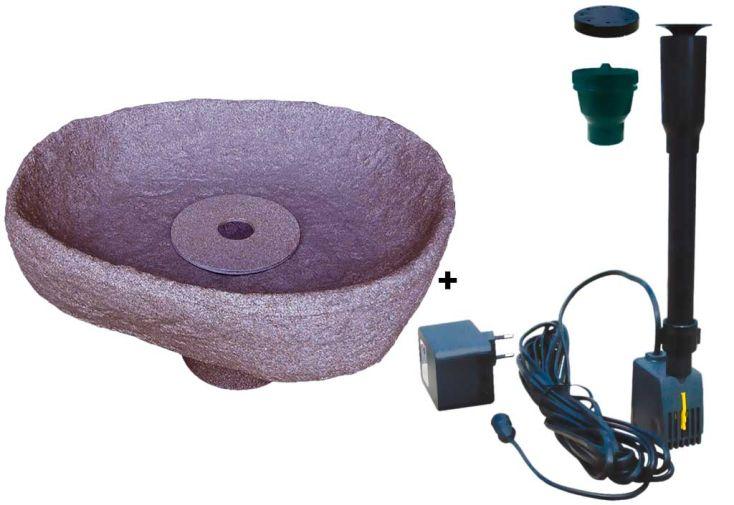 Kit cuve recuperation d'eau vasque fontaine Menhir rouge