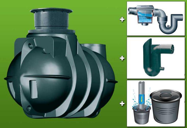 kit cuve recuperateur eau enterree 2000 l 2000 l cuve enterree avec d me coulissant filtre. Black Bedroom Furniture Sets. Home Design Ideas