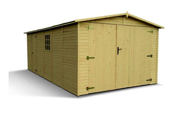 Garage Bois Suke Panneaux 19 mm (3x4,9x2,22)