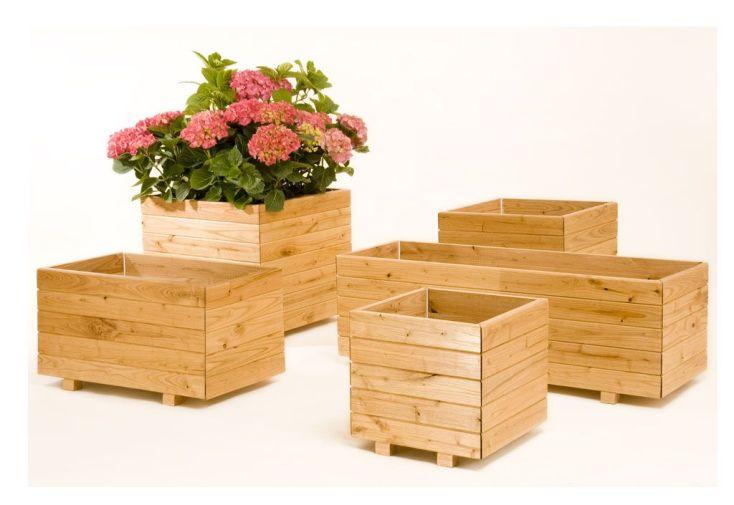 Jardinière Bois Carré Pliable