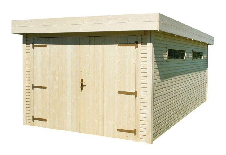 garage en bois kayla 300 cm de large par 550 cm de long