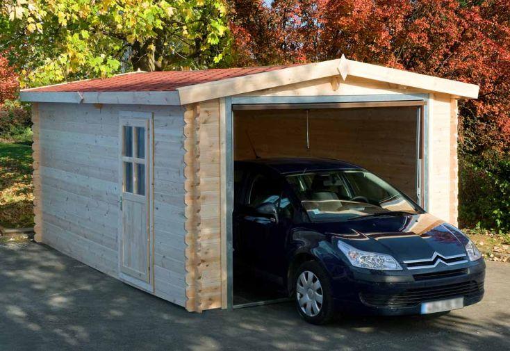 Garage Bois Condor (3x5x2,5) 34 mm + Porte