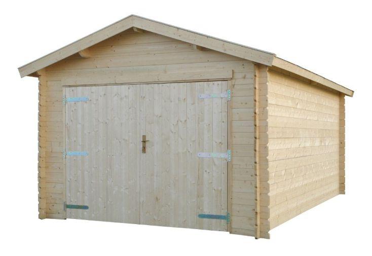 garage en bois hanna à double pan 300 x 500 cm pour garer un véhicule