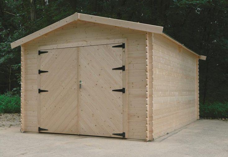 garage en bois hobby 28mm 358x508cm solid. Black Bedroom Furniture Sets. Home Design Ideas