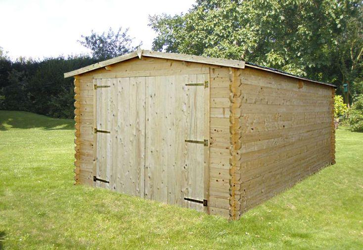 Garage Bois Mésange (350x595x236) 34 mm