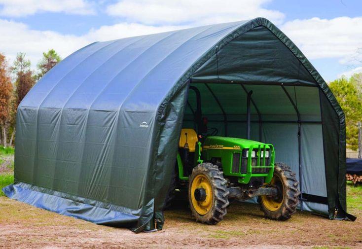 abri pour tracteur en toile de 6 x 4 m Shelter logi