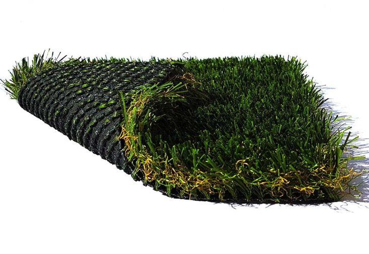 gazon synthétique pelouse artificielle en polyéthylène et polypropylène vert 4 couleurs