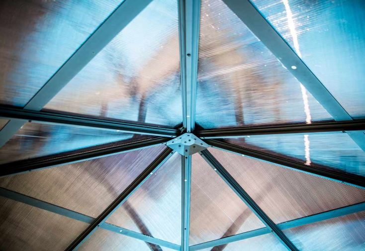 Tonnelle Gloriette en Aluminium 300x300