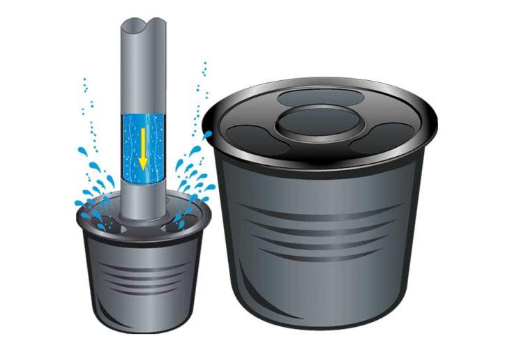 Kit cuve recuperateur eau enterree 2000 l 2000 l cuve enterree avec d me co - Cuve enterree eau de pluie ...
