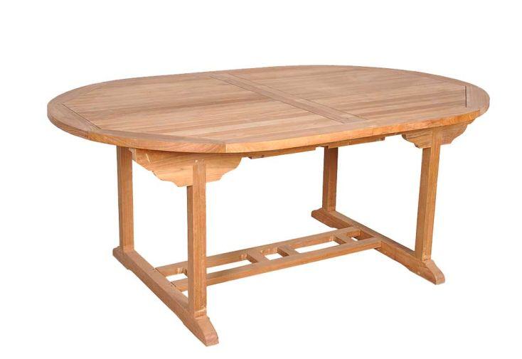 Table Jardin Teck Ovale Corfou 100