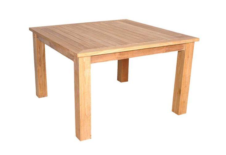 Table Jardin Teck Carree Nassau 90
