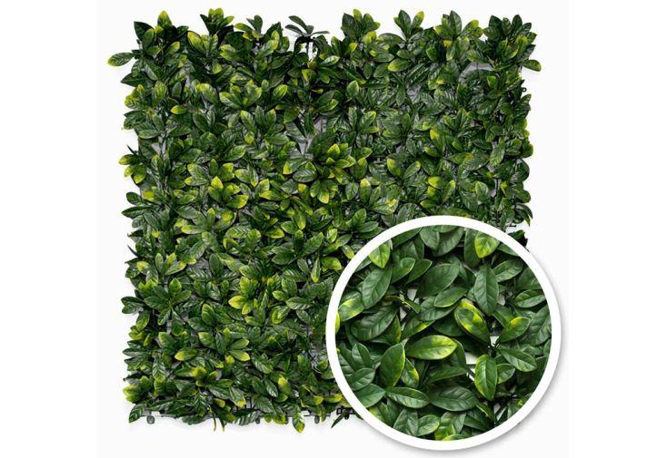 haie artificielle 1 x 1 m laurier cerise feuillage vert