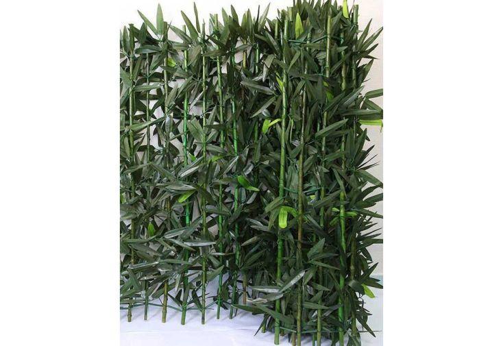 Haie de Bambou Artificiel 1x3m (De 5 à 8 Haies)