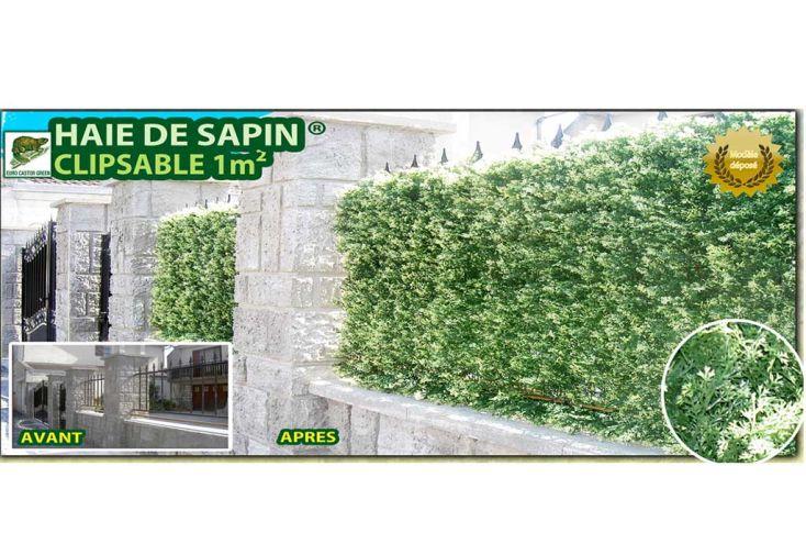 Haie de Sapin Artificiel 4 Plaques de 50x50cm soit 1m² (9m² et +)