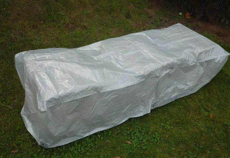 Housse de Protection pour Chaise Longue Étanche Indéchirable 205x75 cm