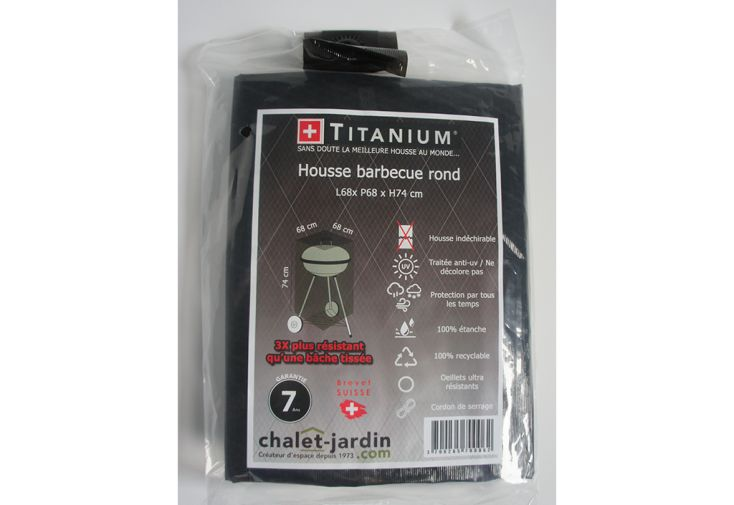 Housse de Rangement pour Barbecue Rond Titanium 68 x 68 x 74 cm