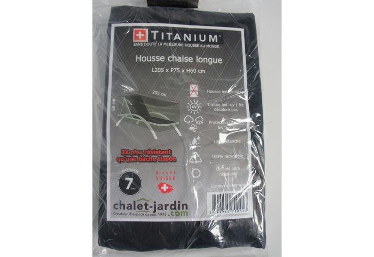Housse de Protection pour Chaise Longue Titanium 205 x 75 x 60 cm