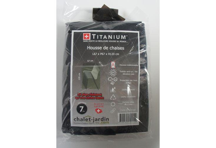 Housse de Protection pour Chaises de Jardin Titanium 67 x 67 x 120 cm