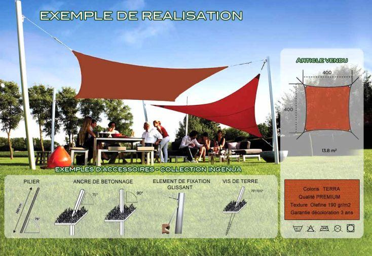 Voile d'Ombrage Ingenua 4x4 Premium Terra