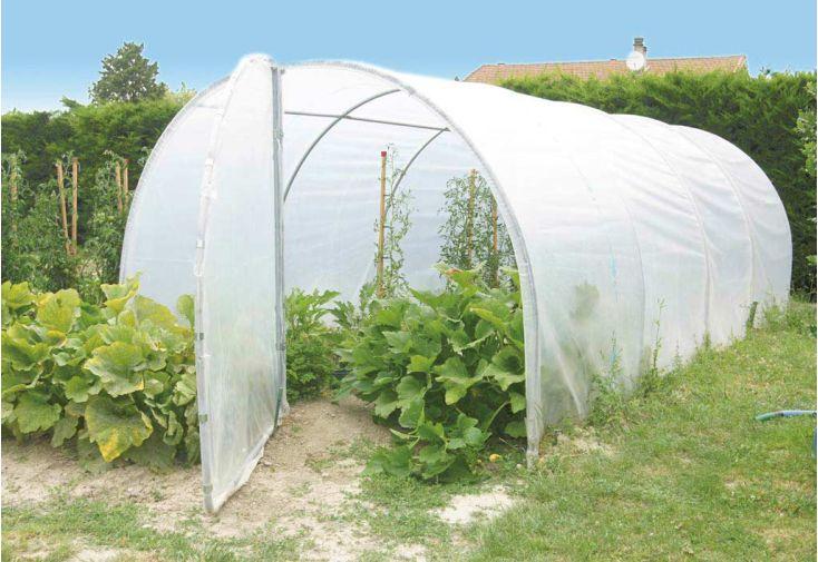Serre de jardin tunnel richel 3x6 pied droit 2x180 2 for Serre de jardin richel