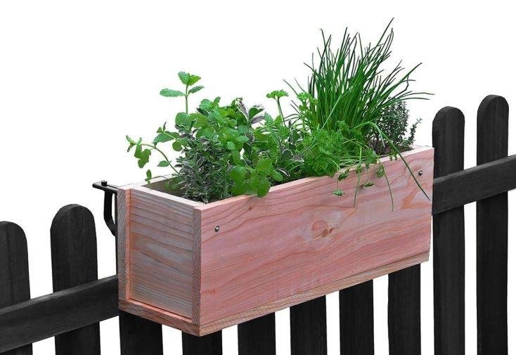 jardinière de balcon en bois douglas 60 x 20 cm 17 L