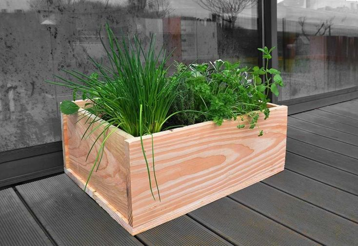 jardinière en bois naturellement résistant à la moisissure et aux insectes