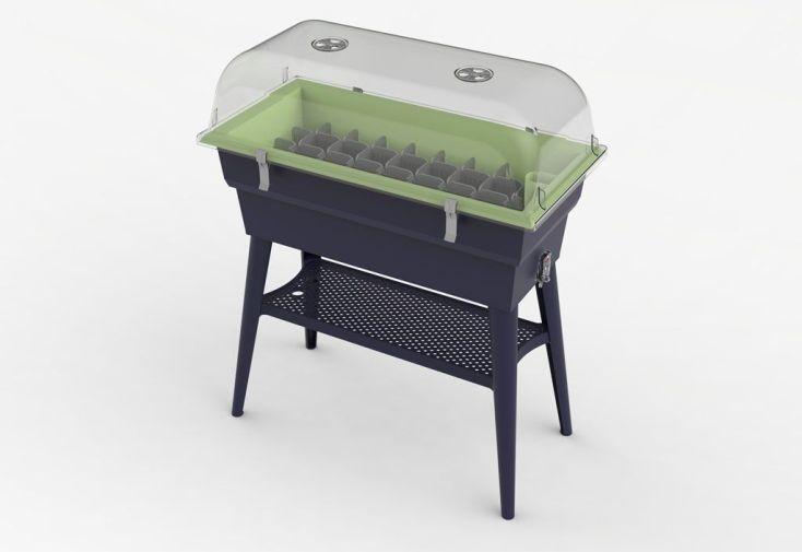 Jardinière Calipso Combi 40L Mini Serre Double Paroi + Réserve d'Eau H80cm