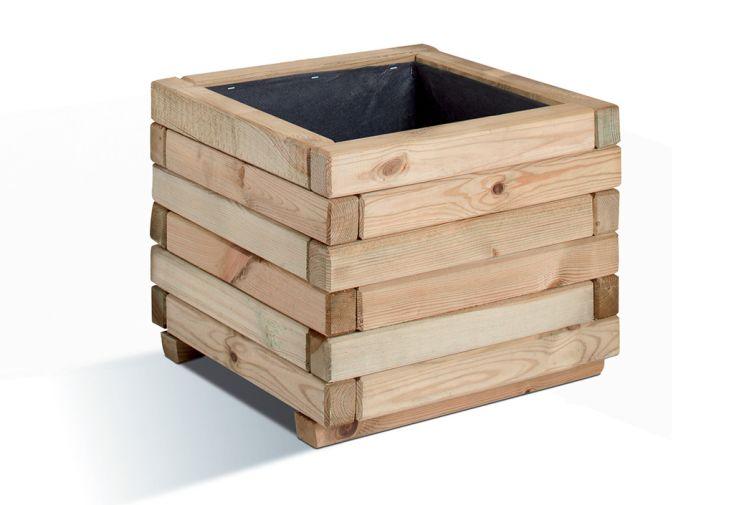 jardinière en bois pin PEFC Stockholm cube jardipolys protection géotextile