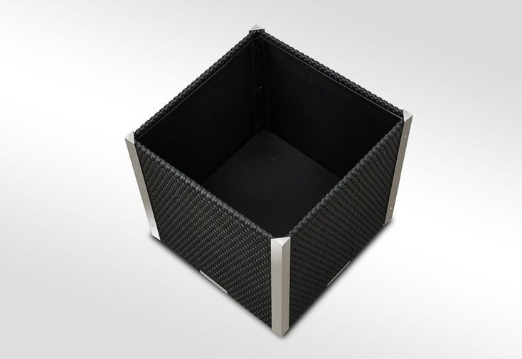 Jardinière en Résine Tressée Cube 46x46x46cm (l,l,h)