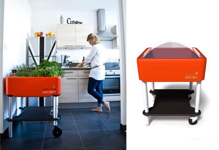 Carré Potager sur Pieds Premium Rouge Réglable French Garden