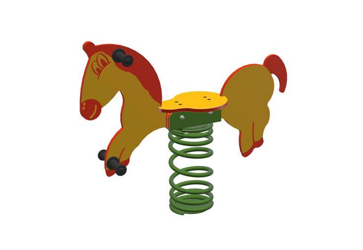 Jeu à bascule sur ressort pour enfant jeu de jardin Sapekor cheval