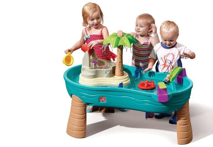 Table Pour Enfants Jeux Deau En Plastique Ile Paradisiaque Step2