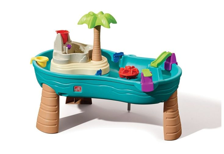 table de jeu d'eau pour enfant île en plastique coloré