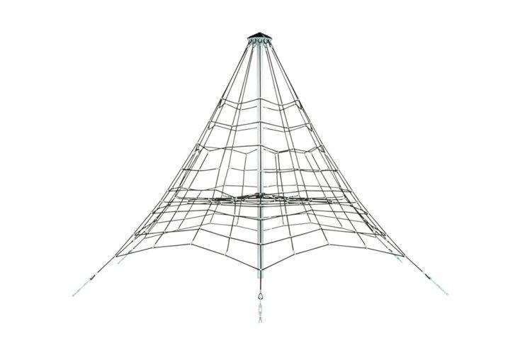 Jeu à Grimper Pyramide en Corde Armée et Acier Galvanisé 3,5 m KBT