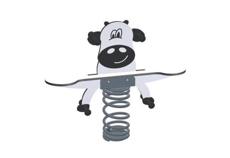 jeu sur ressort pour enfant jeu à bascule double vache