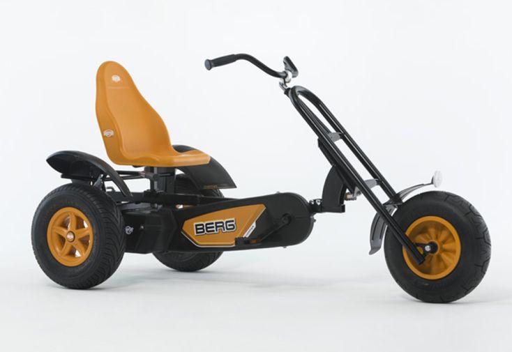 Kart à Pédales Berg Chopper BFR Orange et Noir Profil