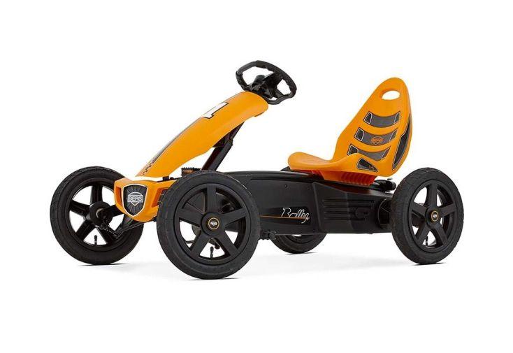 Kart à pédales pour enfant 4-12 ans orange