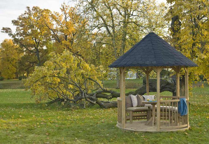 Kiosque de Jardin en Bois d'Épicéa Traité Jagram Villandry