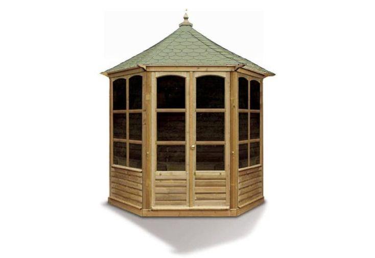 Kiosque de Jardin Fermé en Bois Traité avec Toit en Shingle 6 m²