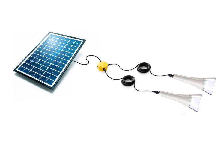 Kit Eclairage Solaire Autonome T-Lite x2