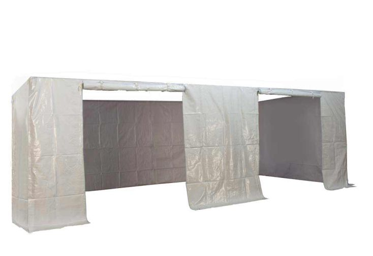 Kit 4 Murs avec Porte PVC 320 gr/m² pour Tente Pliante 3x6 Alu et Acier